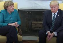 Merkel Shook Trump