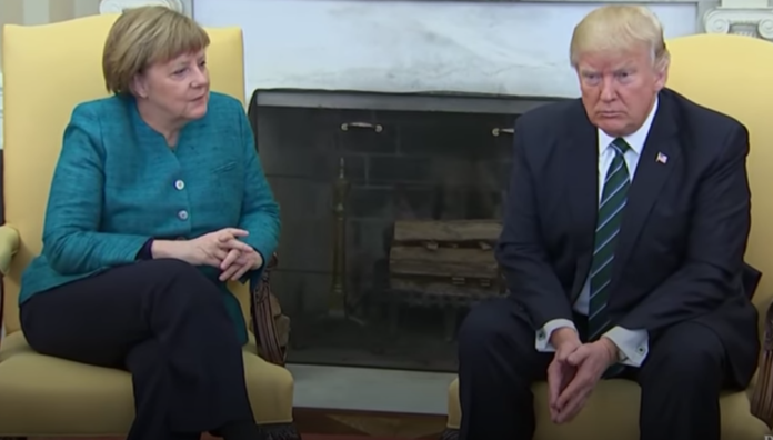 Merkel Shook Trump