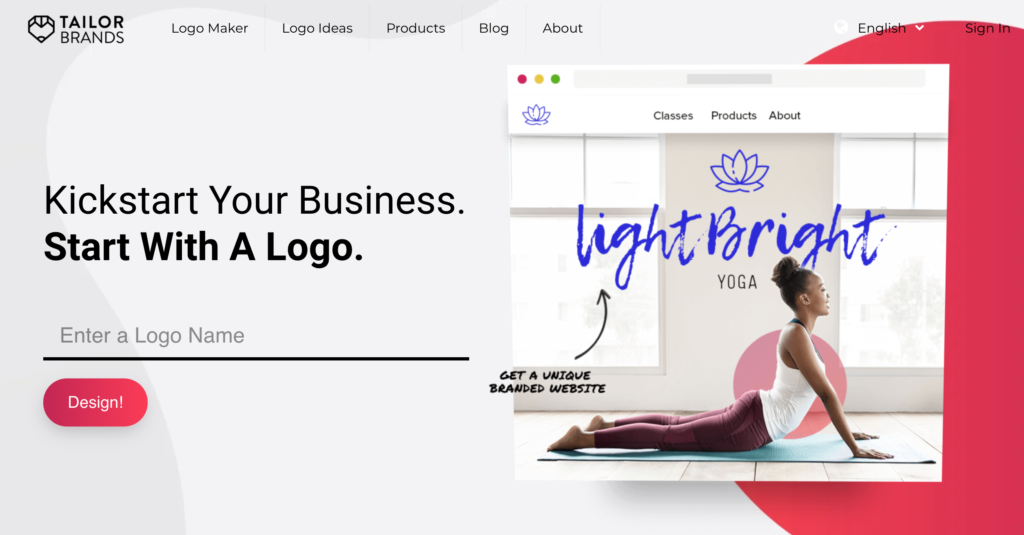 Tailor Brands AI-driven Graphic Design